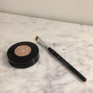 Anastasia brow blonde powder and #15 brush brow